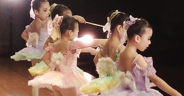 バレエ着の女の子